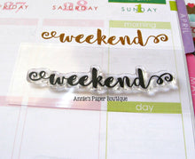 Weekend Script Planner Stamp