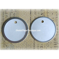 White Metal Rim Tags - 1-5/8""