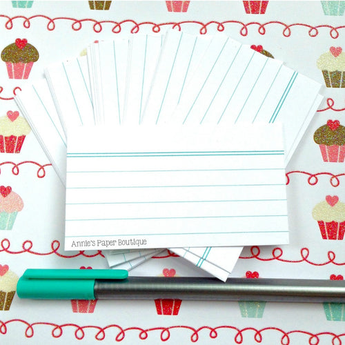 White Mini Index Cards