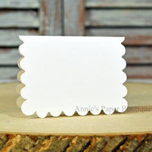 White Scallop Note Cards