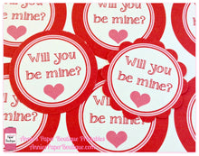 Will You Be Mine Print & Punch Tags