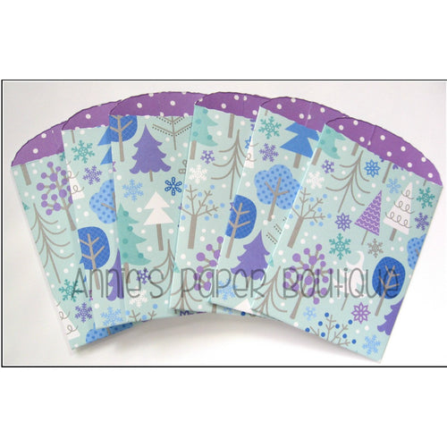 Christmas Tree Paper Pockets - 2-1/2