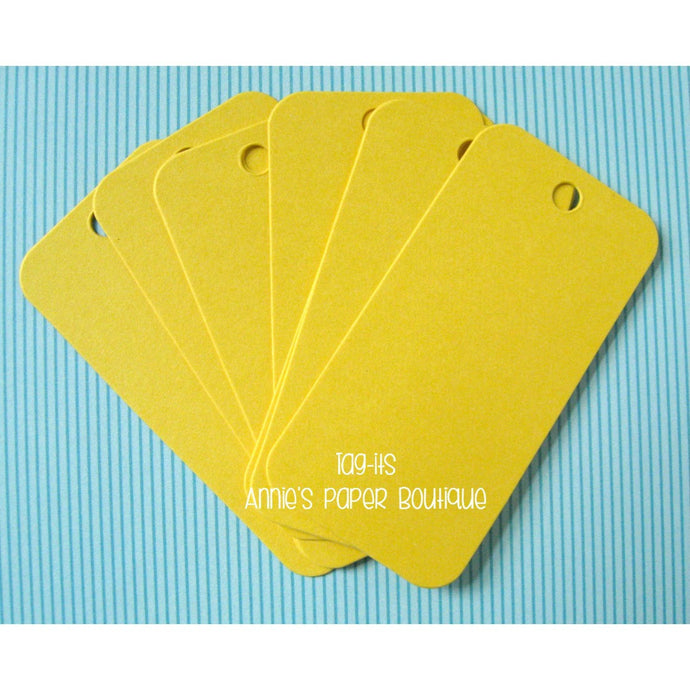 Yellow Hang Tags