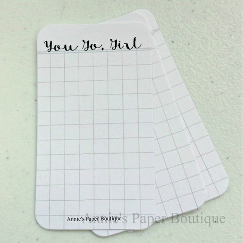 You go girl journaling cards