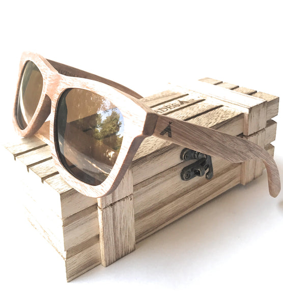 Native Shades zebra wood beach style sunglasses