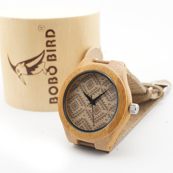 BoboBird Womens Majoy design Hand Made Wooden Watch