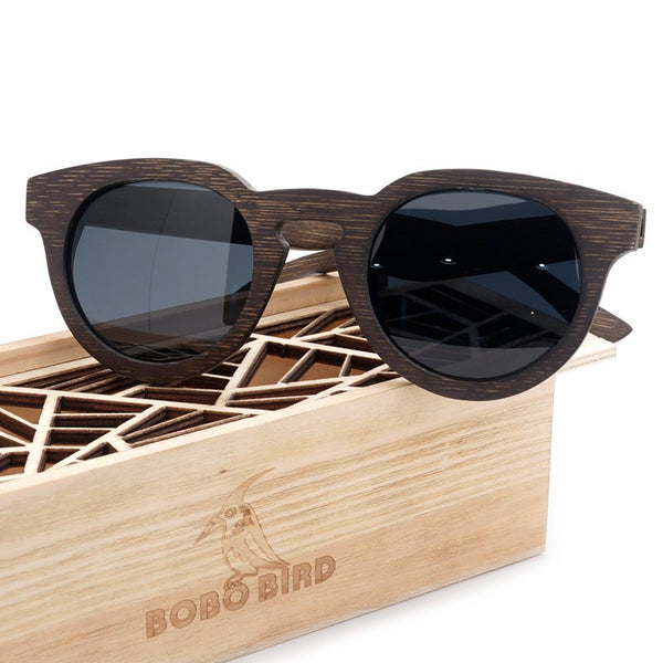 Bobo Bird Dark Wooden Sunglasses  Luxury Beach Style