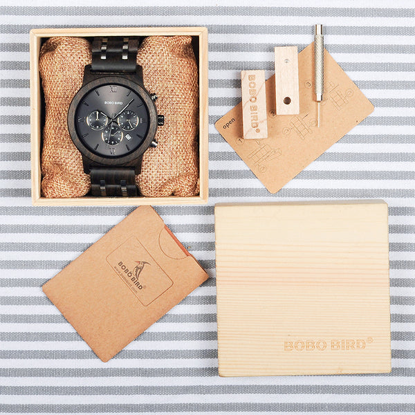 BOBO BIRD P19 Ebony Wood Watch