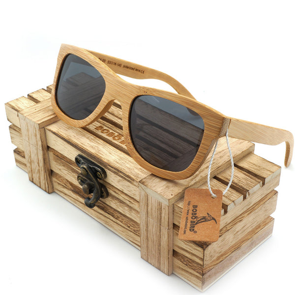 Light hand made wood and bamboo sunglasses