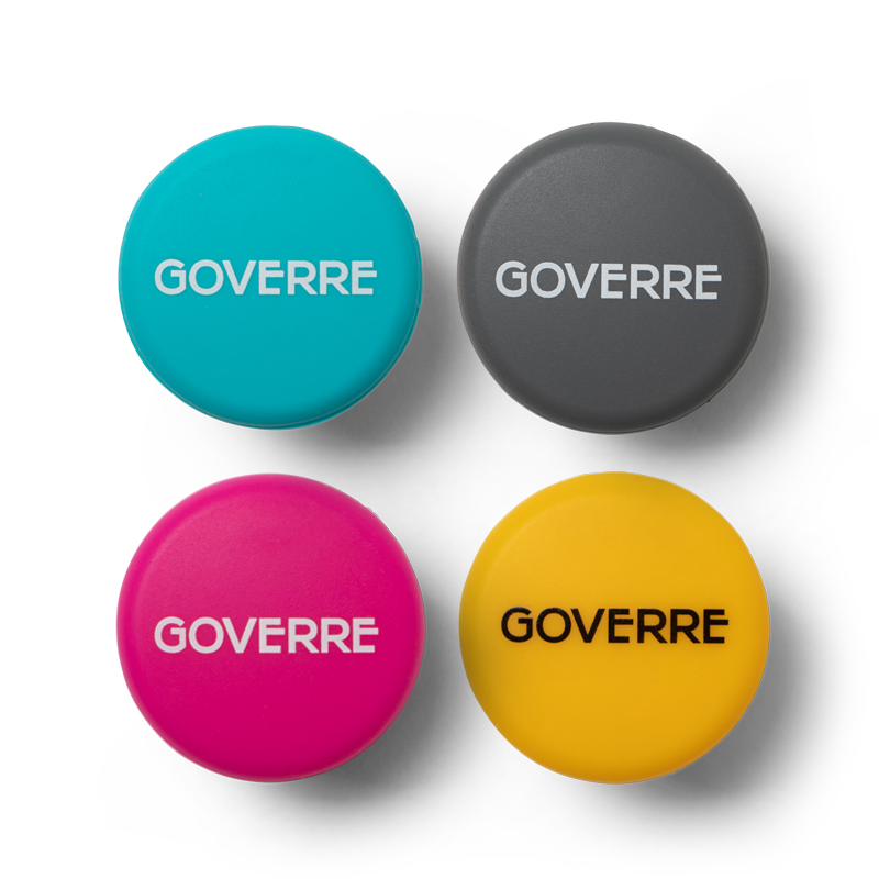 The two wine bottle stopper caps provide airtight seal to any bottle of wine to preserve the taste. Each wine cap/stoppers features our GOVERRE logo and come in our classic colors Turquoise, Hot Pink, Grey and Yellow. They are made of 100-percent silicon and are kitchen and food grade safe.