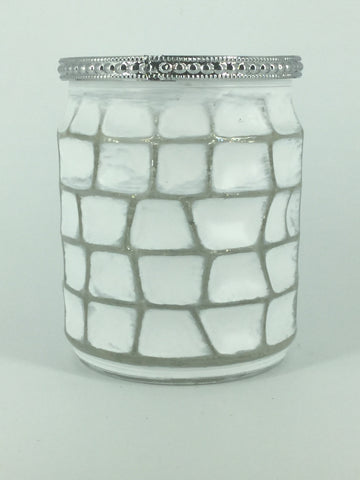 White/Silver Glass Block