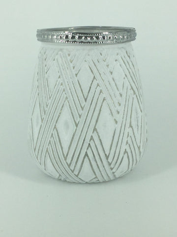 White/Silver Glass Diamond