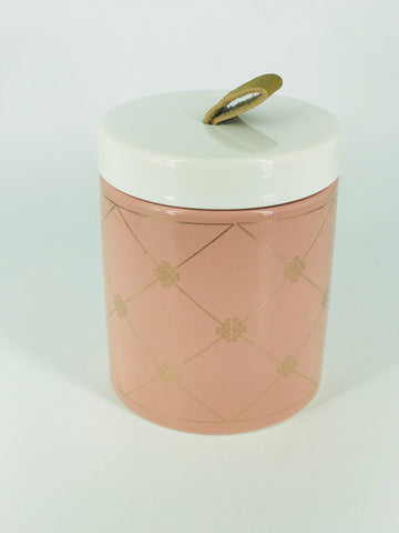 Pink & Gold Ceramic Canister