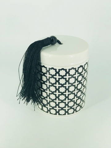 Black & White Tassel - small squares