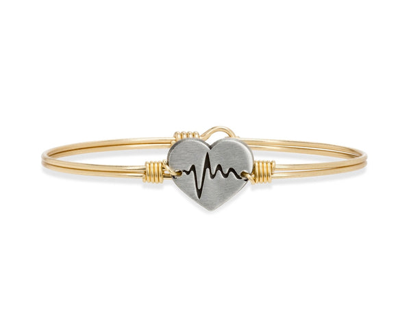 First Responder Bangle Bracelet | Regular Brass