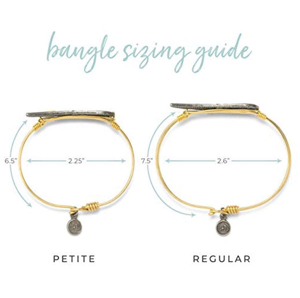 First Responder Bangle Bracelet | Petite Brass