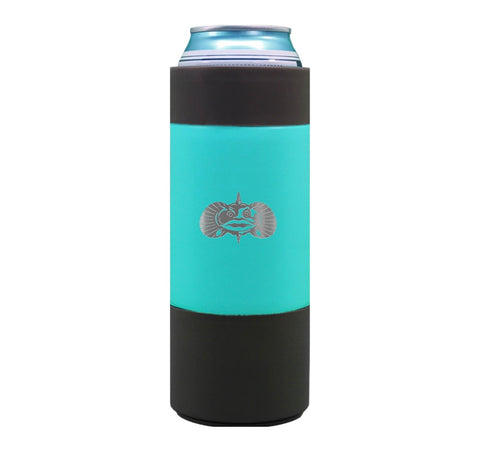 Teal Non-Tipping Slim Can Cooler | Toadfish