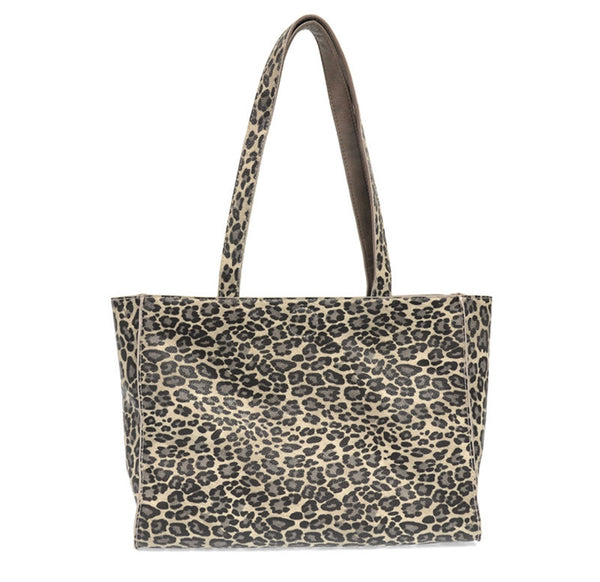 Grey Leopard Reversible Tote
