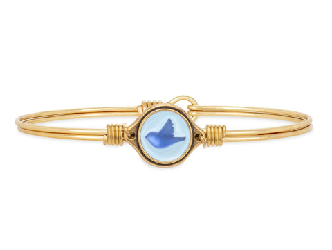 Bluebird Bangle Bracelet | Petite Brass