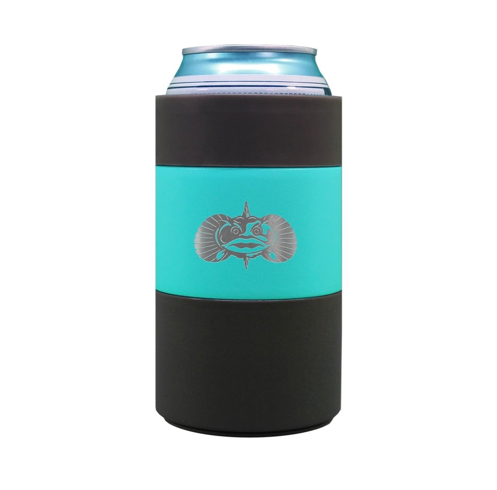 Teal Non-Tipping Can Cooler | Toadfish