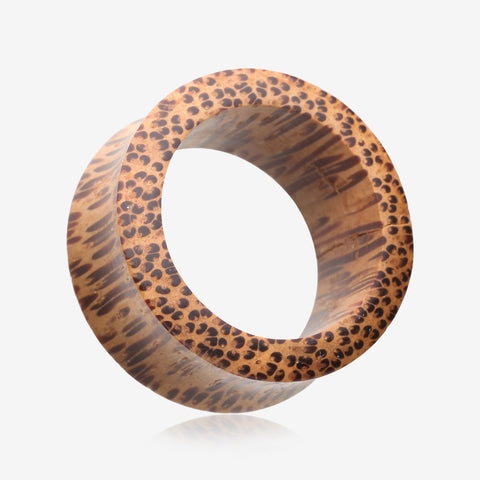 A Pair of Coconut Wood Double Flared Tunnel Plug