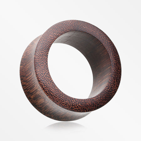A Pair of Dark Tamarind Wood Double Flared Tunnel Plug