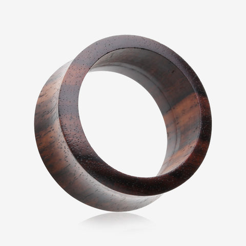 A Pair of Rosewood Double Flared Tunnel Plug