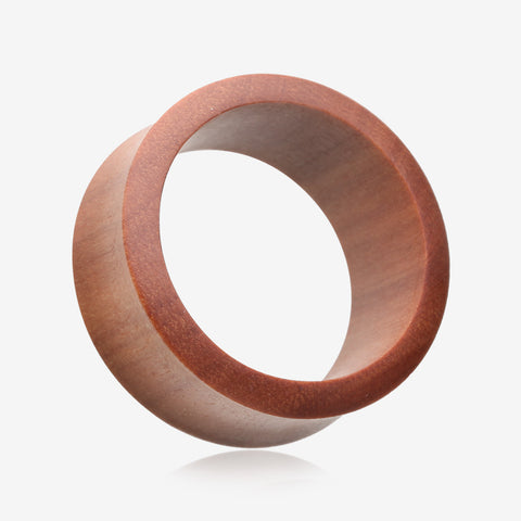 A Pair of Sabo Wood Double Flared Tunnel Plug