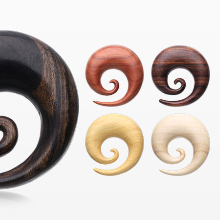 5 Pairs Pack of Balimade Wood Spiral Hanger Plugs-Assorted