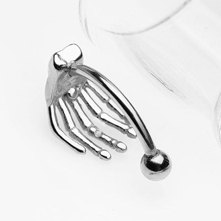 Skeleton Hand of Death Curved Barbell