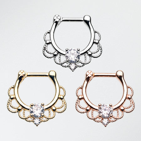 3 Pcs of Turan Septum Clicker Pack-Rainbow/Multi-Color