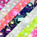 Assorted Color Iridescent Balls and Bio-Flex Belly Bars DIY Package