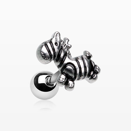 Dainty Toy Zebra Cartilage Tragus Barbell