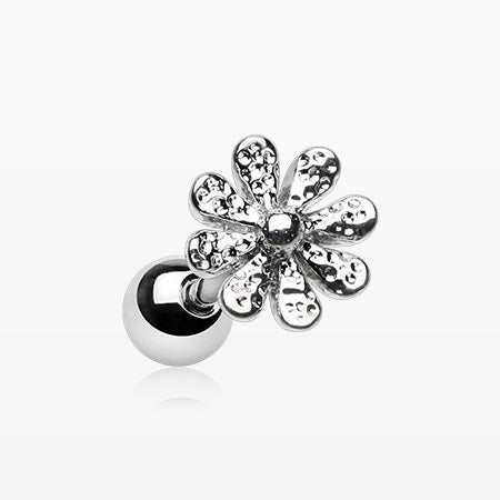 Daisy Flower Top Cartilage Tragus Barbell