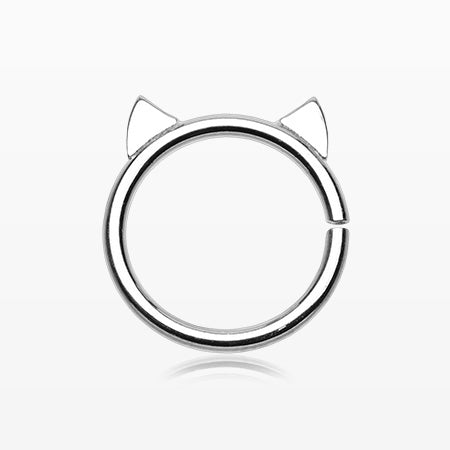 Adorable Kitty Cat Bendable Twist Hoop Ring