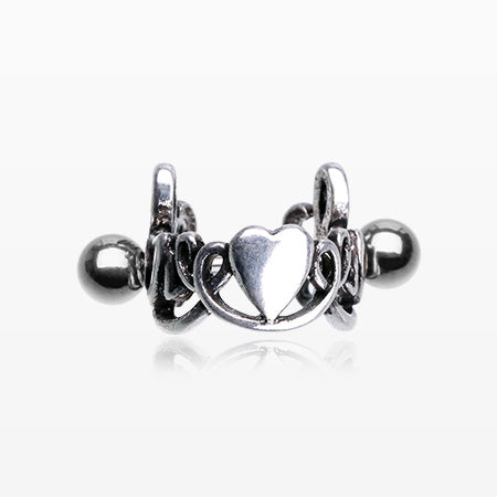 Love Script Heart Cartilage Tragus Cuff