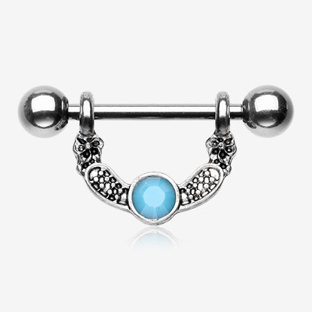 Vintage Lana Turquoise Nipple Barbell Ring-Turquoise
