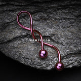 Colorline Steel Twister Spiral Belly Button Ring-Purple