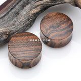 A Pair of Chechen Wood Convex Double Flared Plug