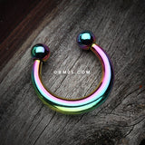 Colorline Basic Fake Septum Horseshoe-Rainbow