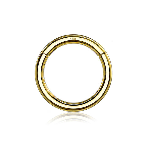 14 Karat Gold Seamless Clicker Hoop Ring