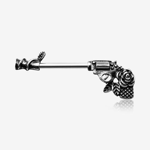 A Pair of Antique Rose Vine Pistol Gun Nipple Barbell