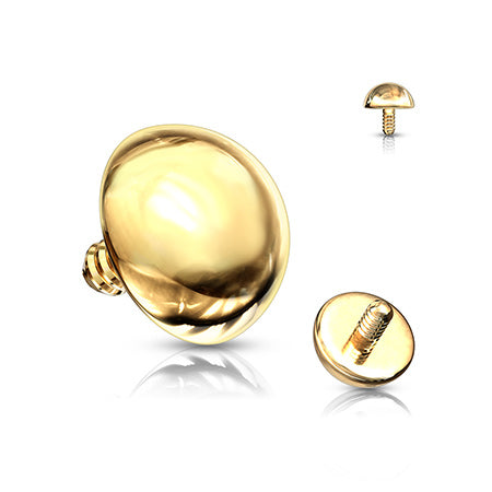 Golden Basic Dome Dermal Anchor Top