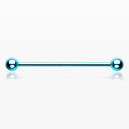 Vibrant Colorline PVD Basic Industrial Barbell-Teal