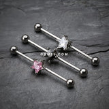 Gem Star Industrial Barbell-Pink