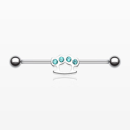 Brass Knuckles Industrial Barbell-Teal