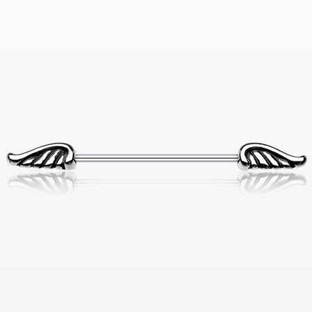 Winged Out Industrial Barbell-Steel