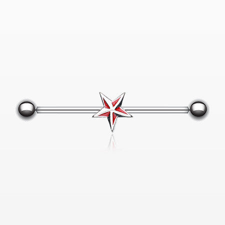 Nautical Star Industrial Barbell-Red