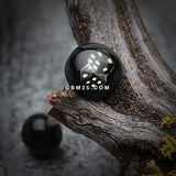 Double Dice Logo Acrylic Barbell Tongue Ring-Black