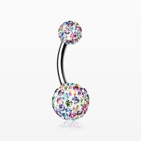 Brilliant Motley Multi-Gem Sparkle Belly Ring-Candy